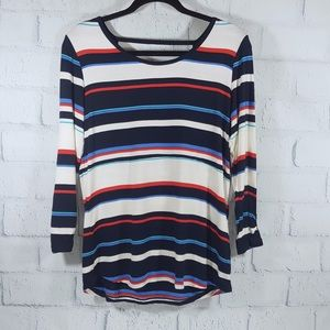 Tribal 3/4 sleeves striped blouse.